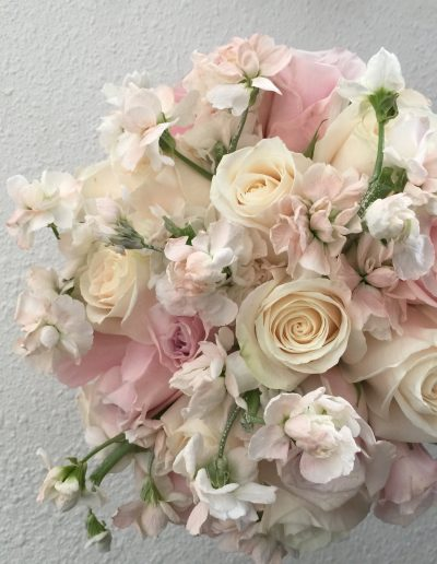 Beautiful pale white with pink roses and white Bouquet